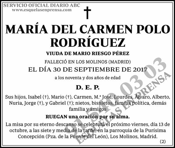 María del Carmen Polo Rodríguez